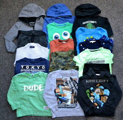 Next Boys Bundle Clothes 5-6 Years Jumpers Hooded Minecraft
