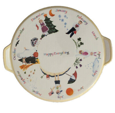 Nantucket Home Happy Everything Serving Plate Platter Handles Holidays By Month