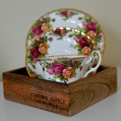 Vintage Royal Albert Old Country Roses Trio - Cup, Saucer & Tea Plate