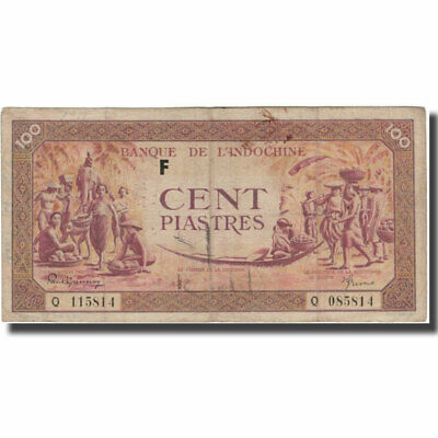 [#597305] Banknote, FRENCH INDO-CHINA, 100 Piastres, KM:67, F(12-15)