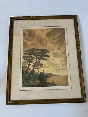 HANK LAVENTHAL scenery ORIGINAL ETCHING ~ SIGNED Ltd Edition 113/125
