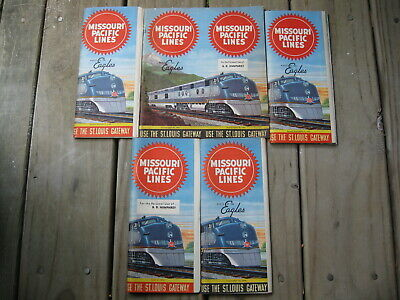 1953 & 1956 Missouri Pacific Lines Railroad Timetables (5) Route of the Eagles