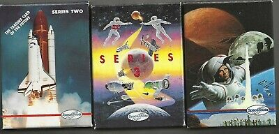 Moon Mars & Space Shots Series 2 & Series 3 - 3 Factory Sets of Trading Cards