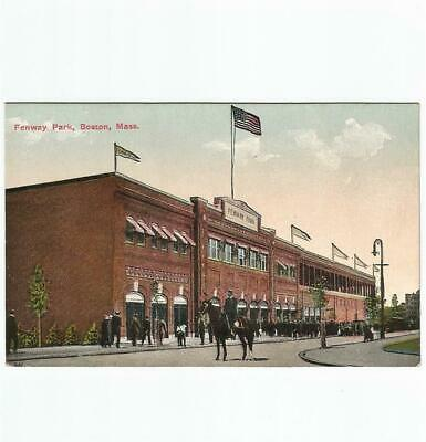 Antique Baseball Postcard Street View of Fenway Park Home of MLB Boston Red Sox
