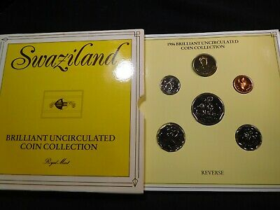 N35 Africa Swaziland 1986 6 Coin Brilliant UNC Coin Collection