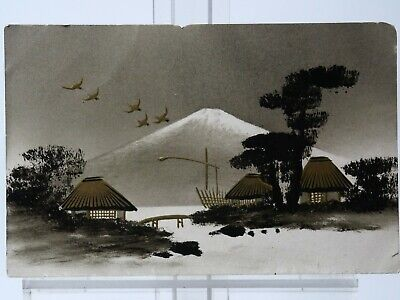 6 Very Old Japanese Interest Postcards - Some Hand Painted  / Character Marks