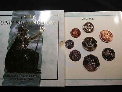 N46 Great Britain 1996 8 Coin Brilliant UNC Coin Collection