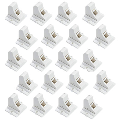 20Pk Cabinet Locks Baby Proofing Adhesive Cupboard Drawers Latches Easy Install