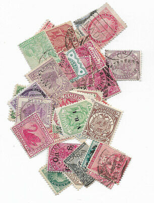 P977/9] 50 different British Empire Queen Victoria only packet