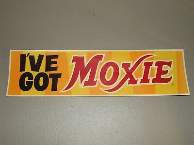 "RARE 1950's MOXIE Soda Country General Store Window Decal Sign ""I've Got Moxie"""