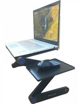 Portable Adjustable Aluminum Laptop Stand/Desk/Table Vented/Stand w/Laptop Fans