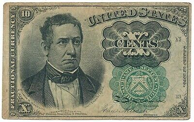 FR1264 1874 Fractional Currency 10 cent Fifth Issue USA Bill