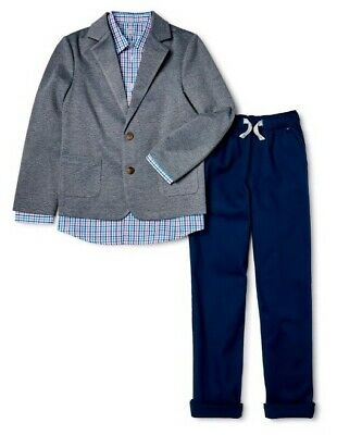 10 12 14  16 /& 18 Boys Geoffrey Beene $85 Gray Tan or Blue 2PC Suit Sizes 8