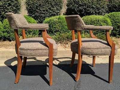 Mid Century Upholstered Armchairs - ! Myrtle Desk !