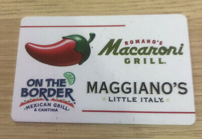 $25 gift card - Chili's Macaroni Grill On the Border Maggiano's