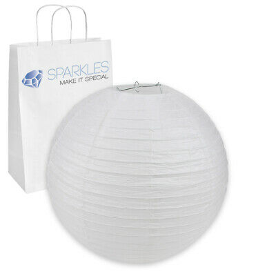 """10 pcs 20"""" inch Chinese Paper Lantern - White - Wedding Party Event ob"""
