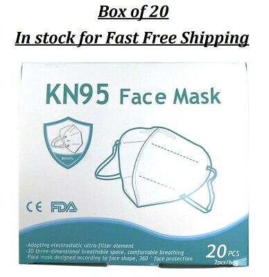 KN95 Mask 20 PCE Box Disposable Protective Safety Face Mask Mouth & Nose Cover