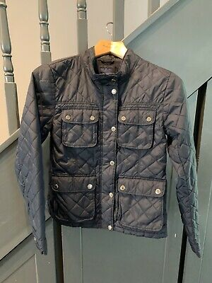 Gap Kids Girls Navy Quilted Jacket Aged 12-13 Good Used Condition