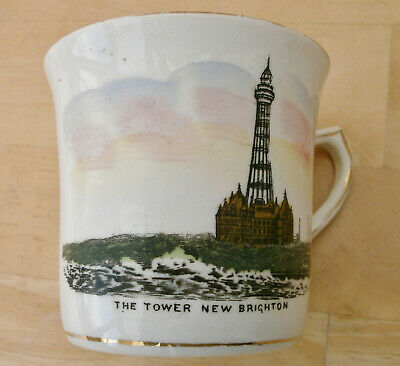 The Tower New Brighton Wallasey Wirral Coffee Cup Stanley China Guilded 3 Inches