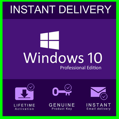 🔥Windows 10 Professional Win10 Activation License Code Key Instant