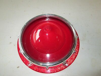 Stop & Tail Lamp Lens Ford  Pass. 1957 with retaining ring