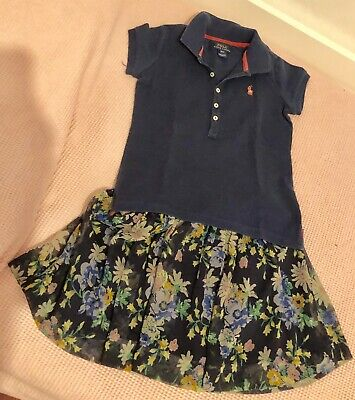 Polo Ralph Lauren Bambina 7 Anni Completo maglia Gonna girls' Size 7 Y 2 Pieces