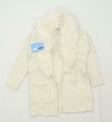 F&F Girls Cream Cardigan Age 9-10