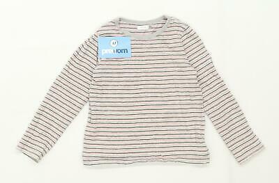 Next Girls Striped Pink Top Age 4-5