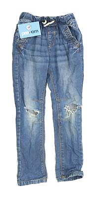 Next Boys Blue Distressed Jeans Age 5-6