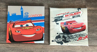 2 X Preloved Disney Cars Lightening McQueen Square Canvas Prints
