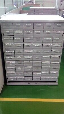 Vintage Industrial Metal 60 Drawer Engineers Storage Unit