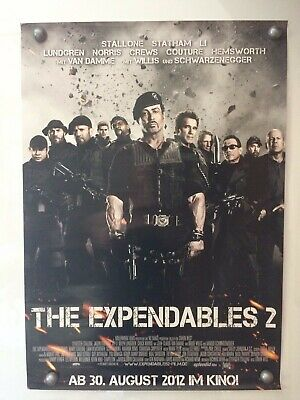 Filmposter * Kinoplakat * A1 * The Expendables 2 * gerollt * 2012