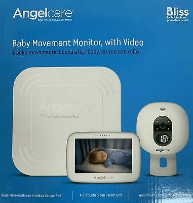 Angelcare AC417 Video, Wireless Movement and Sound Monitor, Baby Monitor, Safety