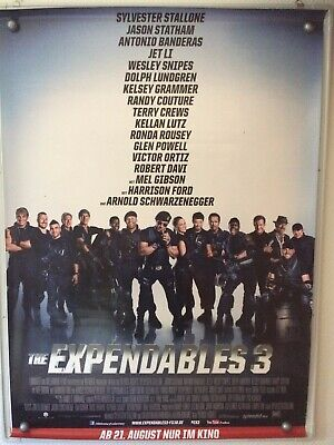 Filmposter * Kinoplakat * A0 * The Expendables 3 * gerollt * 2014