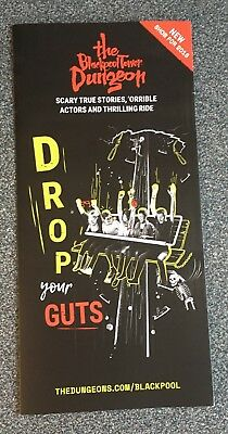 The Blackpool Tower Dungeon Promotional Flyer - scary / horror / days out Merlin