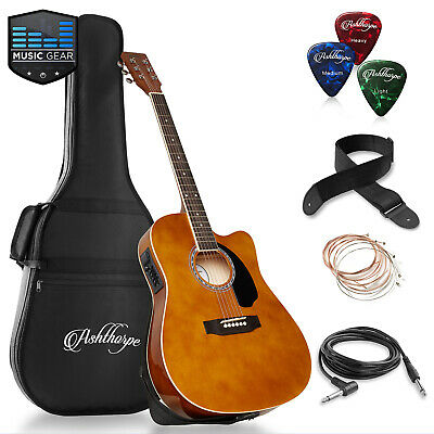 OPEN BOX - Full-Size Acoustic-Electric Cutaway Thinline Guitar