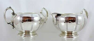 Webster Sterling Silver Creamer and Sugar Bowl