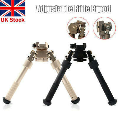 "4-9"" Adjustable Metal Spring Swivel Bipod Adapter Rail for Hunting Air Rifle UK"