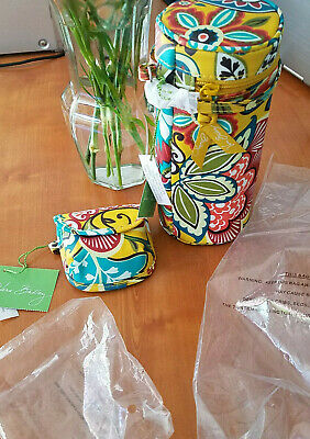 Vera Bradley Bottle Caddy & Pod Set Retired Print