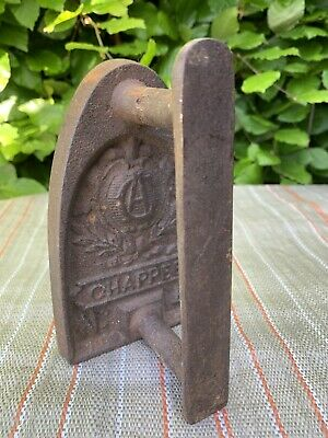 Antique Vintage Flat Iron Sad Irons Chappee No 4