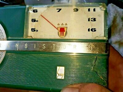 AWESOME Rare  Early SONY TR-6 Vintage Transistor Radio Japan 1950's - gift green