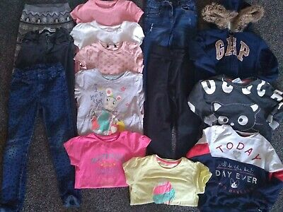 Girls Jacket,2 Jumpers,5 Jeans/Joggers,6 Tops 6-7 Years VGC wear on jumper