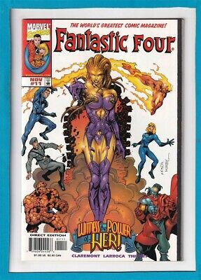 Fantastic Four #11_1998_Very Fine+_The Thing_Human Torch_Jack Kirby Homage Cvr!