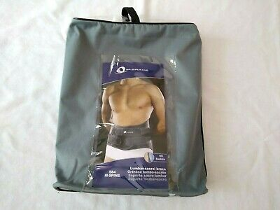 M-Brace Back Orthosis Support M-Spine Low-Profile 584 Lumbar Sacral Gray 4XL