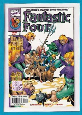 """Fantastic Four #21_September 1999_Vf/Nm_The Thing_Human Torch_""""Deadly Games""""!"""