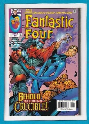 """Fantastic Four #5_May 1998_Near Mint Minus_The Thing_Human Torch_""""Crucible""""!"""