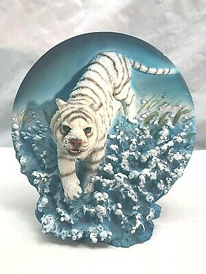 White TIger 3 Dimensional Collector Plate Sculpture