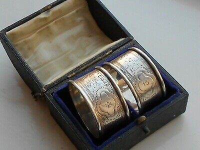 Late 19th Century Victorian Sterling Silver Napkin Rings