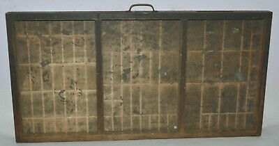 """Vintage Printer's Type Tray/Drawer Shadow Box """"Gutted"""" California Job Case"""
