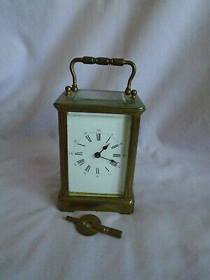 ANTIQUE RARE FRENCH EDUARD SERIN  CARRIAGE CLOCK c1890 + KEY IN GD WORKING ORDER